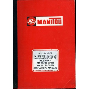 ORIGINAL MANITOU OPERATOR'S & PARTS LIST FOR MANY MODELS, SEE DESCRIPTION