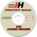 CASE 525 AUGER HEADER OPERATOR'S MANUAL ON CD