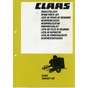 ORIGINAL CLAAS VARIANT 180 BALER SPARE PARTS LIST