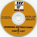 WELGER WSA350 OPERATING MANUAL & PARTS LIST