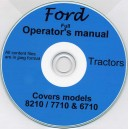 FORD 6710, 7710 & 8210 OPERATOR'S MANUAL ON CD