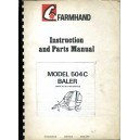 ORIGINAL FARMHAND 504C BALER INSTRUCTIONS & PARTS MANUAL