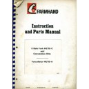 ORIGINAL FARMHAND INSTRUCTION & PARTS MANUAL FOR 8 BALE FORK HE118-C & CONVERSION KITS ALSO FORCOLLATOR HE119-A