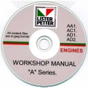 LISTER PETTER AA1, AC1, AD1, AD2 ENGINES WORKSHOP MANUAL ON CD