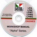 LISTER PETTER LPA, LPW, LPWT, LPWS, LPWG WORKSHOP MANUAL ON CD