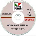 LISTER PETTER TL2 & TL3 ENGINES WORKSHOP MANUAL ON CD