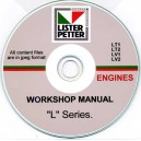 LISTER PETTER LT1, LT2, LV1, LV2 ENGINES WORKSHOP MANUAL ON CD