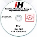 INTERNATIONAL HARVESTER 420, 430 & 440 SERVICE & OPERATOR'S MANUAL ON CD