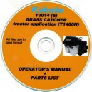 KUBOTA T3014 OPERATOR'S MANUAL & PARTS LIST ON CD