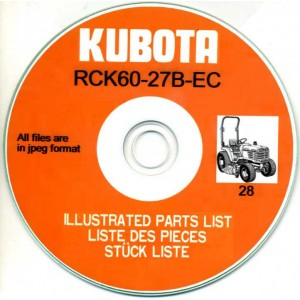 KUBOTA RCK60-27B-EC ILLUSTRATED PARTS MANUAL ON CD
