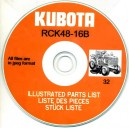 KUBOTA RCK48-16B ILLUSTRATED PARTS LIST ON CD