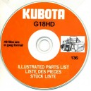 KUBOTA G18HD ILLUSTRATED PARTS MANUAL ON CD