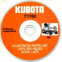 KUBOTA T1760 ILLUSTRATED PARTS MANUAL ON CD
