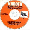 KUBOTA LA480, 480-C & 680 FRONT LOADER ILLUSTRATED PARTS BOOK ON CD