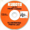 KUBOTA LA211 FRONT LOADER ILLUSTRATED PARTS BOOK ON CD