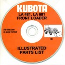 KUBOTA LA481 & LA681 FRONT LOADERS ILLUSTRATED PARTS MANUAL ON CD