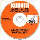 KUBOTA LA950 & LA1150 FRONT LOADER SPARE PARTS LIST ON CD