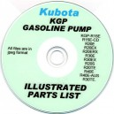 KUBOTA KGP GASOLINE PUMPS ILLUSTRATED PARTS MANUAL ON CD VARIOUS MODELS