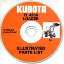 KUBOTA TL420A LOADER ILLUSTRATED PARTS LIST ON CD