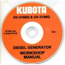KUBOTA GV-3160Q & GV-3190Q WORKSHOP MANUAL ON CD