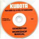 KUBOTA NA1900-3(-3-H2) STANDARD GENERATOR WORKSHOP MANUAL ON CD