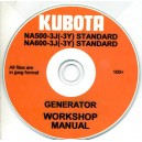 KUBOTA NA500-3JF(-3Y)STD. & NA600-3J(-3Y)STD. WORKSHOP MANUAL ON CD