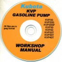 KUBOTA KVP 20, 20S, 20SF, 30, 40, 20T, 30T, 40T GASOLINE PUMP WORKSHOP MANUAL ON CD