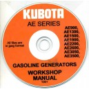 KUBOTA AE900, 1300, 1500, 1900, 2200, 2600, 3050, 3500 WORKSHOP MANUAL ON CD