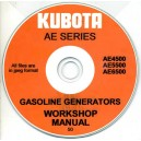 KUBOTA AE4500, AE5500, AE6500 GASOLINE GENERATOR WORKSHOP MANUAL ON CD