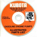 KUBOTA MSK-15E, 20E,EK, 20R, 201E, 30E, EK, 40E, GK-50, GK-80, GKT-50EK, GKT-80EK, KZP-20, 30, 201 PARTS MANUAL ON CD