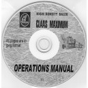 CLAAS MAXIMUM OPERATIONS MANUAL ON CD