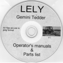 LELY GEMINI TEDDER OPERATING MANUAL & PARTS LIST ON CD