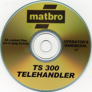MATBRO TS300 OPERATORS HANDBOOK ON CD