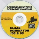 CLAAS DOMINATOR 106 & 96 OPERATOR'S MANUAL ON CD