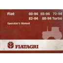 ORIGINAL FIAT 60-94, 65-94, 72-94, 82-94, 88-94 TURBO OPERATORS MANUAL