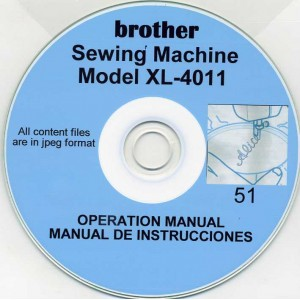 SINGER, BROTHER & TOYOTA SEWING MACHINE MANUALS ON CD