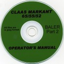 CLAAS MARKANT 65-55-52 OPERATING MANUAL PART 2 ON CD