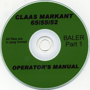 CLAAS MARKANT 65-55-52 OPERATING MANUAL PART 1 ON CD