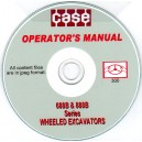 CASE POCLAIN 688B & 888B WHEELED EXCAVATORS OPERATOR'S MANUAL ON CD