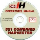 CASE 521 COMBINE OPERATORS MANUAL ON CD