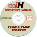 CASE 7130E & 7140E OPERATORS MANUAL ON CD