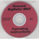HOWARD BIGBALER MKII OPERATING INSTRUCTIONS ON CD