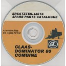 CLAAS DOMINATOR 80 COMBINE PARTS LIST ON CD