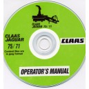 CLAAS JAGUAR 75-71 FORAGE HARVESTER OPERATORS MANUAL ON CD