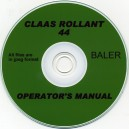 CLAAS ROLLANT 44 BALER OPERATORS MANUAL ON CD