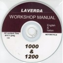 LAVERDA 1000 & 1200 WORKSHOP MANUAL ON CD IN ENGLISH & ITALIAN