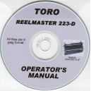 TORO REELMASTER 223-D CUTTING UNIT OPERATOR'S MANUAL ON CD