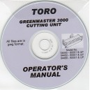 TORO GREENMASTER 3000 CUTTING UNIT OPERATOR'S MANUAL ON CD