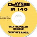 CLAYSON M140 COMBINE OPERATORS MANUAL ON CD