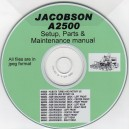 JACOBSON AR2500 SETUP, PARTS & MAINTENANCE MANUAL ON CD